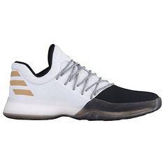 dbbd5bfc0336 Adidas Harden Vol.1 Shoe Men s Basketball 9 Running White-Black-Gold  Metallic