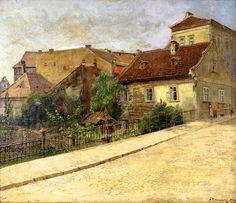 Jan Minařík - Partie z Výtoně (1903) Coups, Monet, Old Houses, Landscape Paintings, The Neighbourhood, Beautiful Places, The Originals, Architecture, House Styles