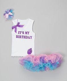 Love this So Girly & Twirly Purple 'It's My Birthday' Tutu Set - Infant, Toddler & Girls by So Girly & Twirly on #zulily! #zulilyfinds