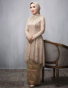 Model Kebaya Muslim, Kebaya Modern Hijab, Dress Brokat Modern, Model Kebaya Modern, Kebaya Hijab, Muslim Dress, Dress Brukat, Hijab Dress Party, Hijab Style Dress