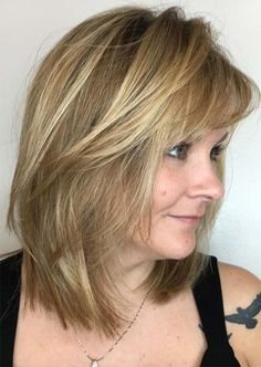 Hairstyles for Overweight Women Over 50 Haircut For Older Women, Short Hair Cuts For Women, Long Hair Cuts, Thin Hair, Mid Length Hair Styles For Women Over 50, Hairstyles Over 50, Hairstyles With Bangs, Cool Hairstyles, Gorgeous Hairstyles