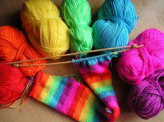 Rainbow Knitting