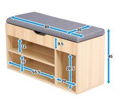 Moderno zapato de madera banco de almacenamiento con asiento/Almacenamiento-en Pufs y Reposapiés de Muebl… Shoe Storage Ottoman, Wooden Shoe Storage, Bench With Shoe Storage, Diy Storage, Shoe Rack Bench, Storage Benches, Small Shoe Bench, Storage Ideas, Shoe Storage Solutions