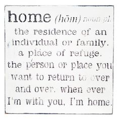 Family/Home Definition Wall Decor