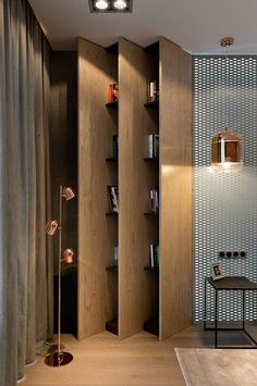 diy wood project home decorations from smart closet designs to console tables Shelf Design, Cabinet Design, Bibliotheque Design, Regal Design, Living Room Shelves, Closet Designs, Apartment Design, Contemporary Decor, Cheap Home Decor