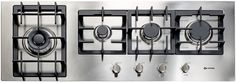 Verona VECTGM424SS 42 Inch Gas Cooktop with 4 Sealed Burners, Front Controls, Heavy Duty Cast Iron Grates, Dual Power/Simmer Burner, Optional Accessories and LP Conversion Kit Included