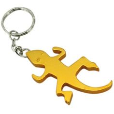 LUQUAN 1 X New Metal Gecko Beer Keychain Bottle Cap Opener Keychain *** Want additional info? Click on the image. (This is an affiliate link) #WineAccessories