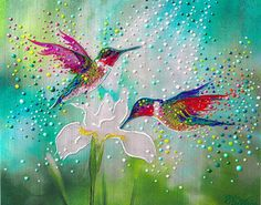 The Energy Art Store By Julia Watkins — Hummingbirds – Good Luck And Abundance Totem Dot Painting, Stone Painting, Hummingbird Painting, Art Store, Art Plastique, American Artists, Impressionist, Painting Inspiration, Bunt