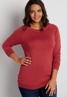 the classic plus size pullover with zipper back | maurices