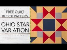 FREE Quilt Block Pattern: Ohio Star Variation - YouTube