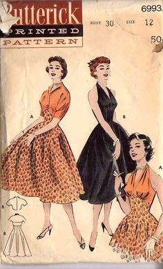 Your place to buy and sell all things handmade Vintage Dresses 50s, Vintage Dress Patterns, Dress Sewing Patterns, Clothing Patterns, Vintage Outfits, Vintage Fashion, Pattern Sewing, Retro Fashion, Fifties Fashion