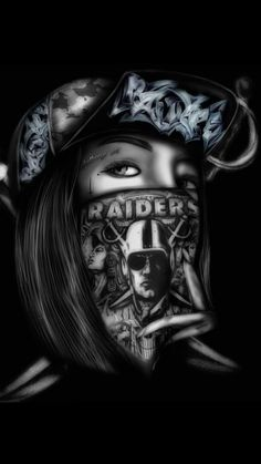 Raiderette Oakland Raiders Wallpapers, Oakland Raiders Images, Oakland Raiders Football, Raiders Pics, Raiders Stuff, Raiders Baby, Cholo Art, Chicano Art, Raiders Tattoos