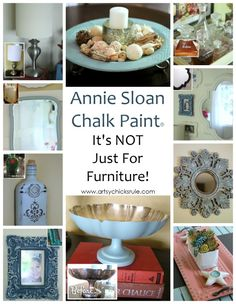 Annie Sloan Chalk Paint - It's Not Just For Furniture - You can use for just about anything!  - #chalkpaint #ascp #anniesloan artsychicksrule.com