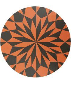 Ferm Living Black and Orange Star Birch Cutting Board