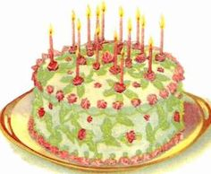Old Fashioned Cake Baking Secrets & Recipes Vintage Birthday Cakes, Vintage Cakes, Vintage Baking, Vintage Food, Happy Birthday Wallpaper, Happy Birthday Messages, Birthday Greetings, Baby Boomer, Classic Cake