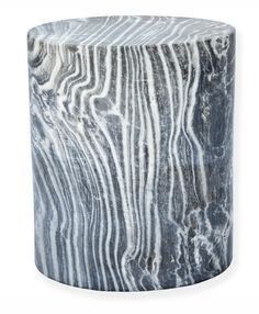 Swoon!  Probably costs a fortune, but WOW!   Marble Cylinder Stool Side Table- Dering Hall