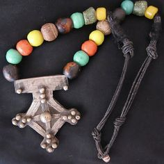 Old Large Berber Cross with Knobs & Colorful by TuaregJewelry #GotVintage  #Vintage  #Jewelry