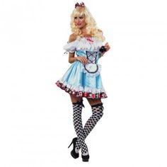 Αλίκη αποκριάτικη στολή με κοντό φόρεμα