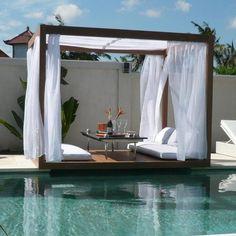 pool deck shade DIY pergola cover