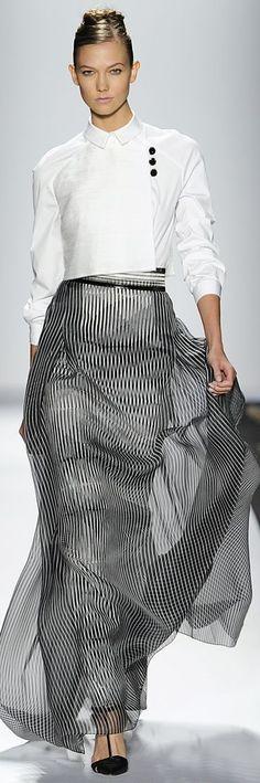 Carolina Herrera Spring my style Style Haute Couture, Couture Fashion, Runway Fashion, Womens Fashion, Fashion Trends, Milan Fashion, White Fashion, Look Fashion, Fashion Show