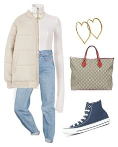 """""""Untitled #891"""" by lucyshenton ❤ liked on Polyvore featuring Converse, Off-White, Urban Outfitters, Blumarine, Cross, Gucci and Chanel"""