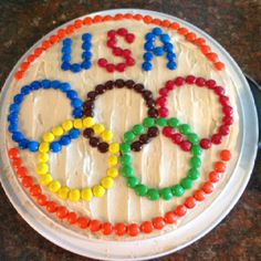 Olympic Cookie Cake I made for the Opening Ceremonies!!