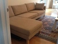 Ikea Karlstad 3 Seat Sofa And Chaise Longue / Corner Sofa | eBay