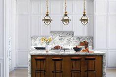 INNOVATIVE GLOBE PENDANT KITCHEN LIGHTING IDEAS SMALL KITCHEN Modern Kitchen Lighting, Kitchen Lighting Fixtures, Modern Kitchen Design, Ceiling Fixtures, Light Fixtures, Modern Kitchens, Dream Kitchens, Kitchen Pendants, Kitchen Cabinetry