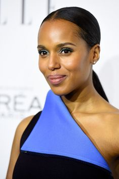Kerry Washington Photos - Actress Kerry Washington arrives at ELLE's Annual Women In Hollywood at Four Seasons Hotel Los Angeles at Beverly Hills on October 2014 in Beverly Hills, California. - ELLE's Annual Women in Hollywood Dramatic Eyeliner, Eyeliner For Hooded Eyes, Best Eyeliner, Eyeliner Looks, George Washington, Kerry Washington Hair, Straight Ponytail, Celebrity Beauty, Celebrity News