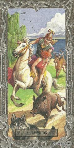 XXI. The World - Tarot Of The Druids (De Vecchi)