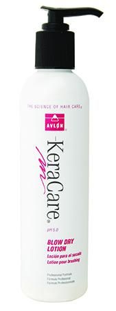 To keep flyaway tresses at bay, lightly apply Keracare Blow Dry Lotion (£7.65/8oz) to control and separate the hair. Perfect for heat styling, roller setting and everyday hairdressing, the moisturising lotion prevents hair from drying out and looking bushy - so it looks fresh out of the pack. Available nationwide