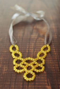 DIY: Beaded Bib Necklace
