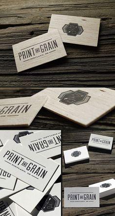 Letterpress Wood Business Cards