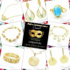 """PULE O CARNAVAL COM A CASSIE!!!! Use o Cupom de Desconto """"CARNAVAL"""" e ganhe 15% DE DESCONTO!!!! SÓ ATÉ HOJE!!   Semijoias folheadas com garantia em até 6x sem juros e frete grátis para compras acima de R$ 150,00. ▃▃▃▃▃▃▃▃▃▃▃▃▃▃▃▃▃▃▃▃▃▃ #Cassie #cassiesemijoias #semijoias #acessórios #folheadoaouro #folheado #instasemijoias #instajoias #fashion #lookdodia #dourado #tendências #banhadoaouro18k #atacadosemijoias #atacado #atacadoevarejo #semijoia #semijóias"""