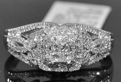 0.5ct Engagement Ring Wedding 14k White Gold Princess Cut Vintage - Listing price: $2,645.00 Now: $699.00