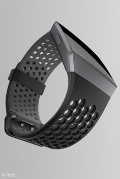 Sprint. Squat. Swim. Look good anywhere your fitness journey leads with this versatile, breathable Black and Charcoal sport band for Fitbit Ionic. Also available in Cobalt and Lime.