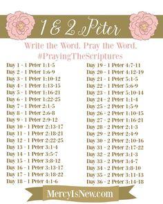 1 and 2 Peter Free Printable write the word plan!