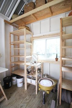 Maya Blu Home Studio — Maya Blu Home Studio Shed, Home Studio, Tiny Studio, Studio Kitchen, Studio Room, Studio Setup, Garage Art Studio, Studio Ideas, Shed Interior