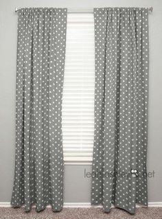 Curtain Panel I Gray White Polka Dot Liam Karis by leahashleyokc Grey And White Curtains, Grey Curtains, Panel Curtains, Curtain Panels, Nursery Window Treatments, Bedroom Turquoise, Nursery Design, Slipcovers, Upholstery