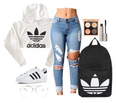 """👁‍🗨👁‍🗨"" by mina-smith1 on Polyvore featuring adidas, Topshop and Ilia"