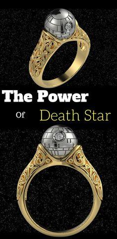 Star Wars Death Star Engagement Ring - Star Wars Engagement Rings #starwars #deathstar #rings