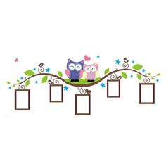Sandistore Couple Owl Family Wall Decal Sticker Removable Photo Frame Kids Baby Room Vinyl * See this great product. (This is an affiliate link) Owl Family, Family Wall, Wall Mural Decals, Wall Decal Sticker, Diy Art, Clock For Kids, Owl Cartoon, Vinyl Wall Quotes, Wall Stickers Home