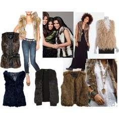 Fur Vests - great look for fall/winter especially here in the southwest. found at popcosmo.com