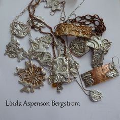 bottom right necklace - Stamping Solder for Jewelry Tutorial ,,,is.http://www.artfire.com/ext/shop/studio/LindaOriginals