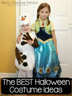 The Best Halloween Costume Ideas for Kids at Costume Express from Still Playing School Source by stillplaying Halloween Costumes Pictures, Best Friend Halloween Costumes, Homemade Halloween Costumes, Toddler Halloween Costumes, Cool Costumes, Halloween Kids, Costume Ideas, Halloween Activities For Kids, Frozen Activities