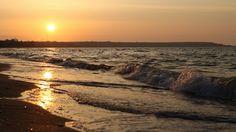 Sunset in Odessa #Odessa #Ukraine #sea #bird #sky #landscape #sun #sunset