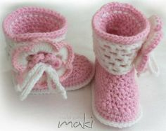 Crochet baby pattern boots - Permission to sell finished items - No sewing - PDF! Full of large pictures! Pattern No. 105