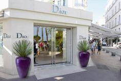 Purple Dune planters outside Dior shop
