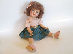 Ideal Doll P90 Vintage 1950's Asleep Awake Original Clothing