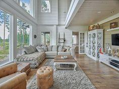 Finnlamelli - Galleria Homestead House, House Extensions, Log Homes, Bungalow, Sweet Home, Bedroom Decor, Loft, House Design, Cabin